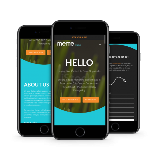 SEO website design iphone graphic